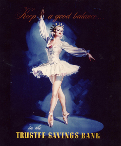 Image: Ballerina advert.