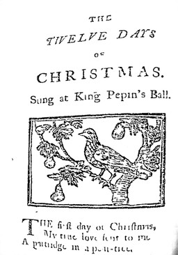 "Image of title page from ""The 12 days of Christmas"", 1780"