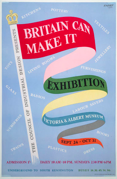 Britain Can Make It exhibition poster