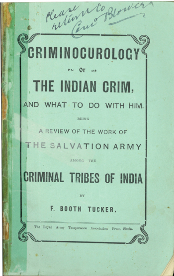 Image of Criminocurology or The Indian Crim, and what to do with him, Frederick Booth-Tucker, 1911